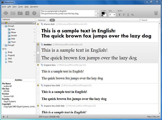 NexusFont简体中文版,多国语言版