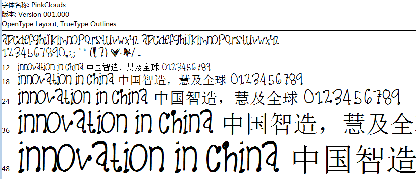 PinkClouds字體_字體下載_字體設計