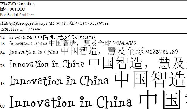 Carnation字体_Carnation字体下载_英文字体下载