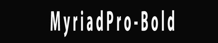 MyriadPro-Bold