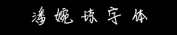 潘婉琼字体