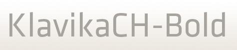 KlavikaCH系列字体设计标志必备