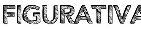 鉛筆塗鴉字體Figurativative