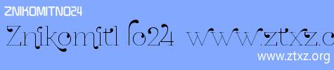 艺术字体一款ZnikomitNo24