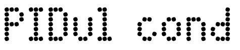 PIDvlcond圆点英文字体