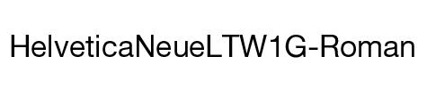 HelveticaNeueLTW1G-Roman