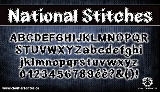 Nice stitch fonts free download