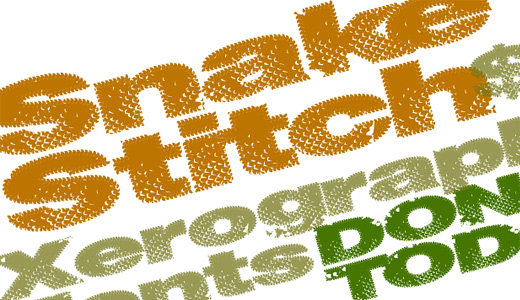 Snake scale stitch fonts free download