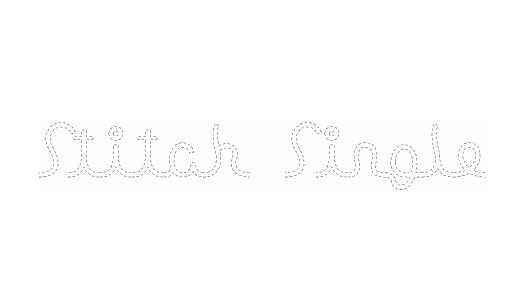 Single line stitch fonts free download