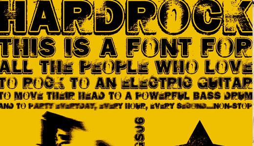 Hard Rock<br /><br /><br /> http://www.dafont.com/hard-rock.font