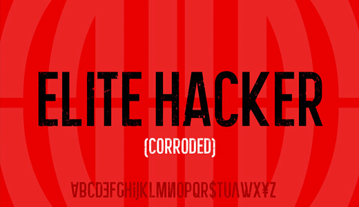 Elite Hacker Corroded<br /><br /><br /> http://www.dafont.com/elite-hacker-corroded.font